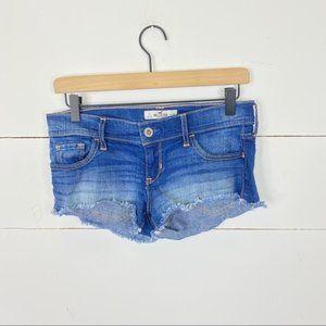 Hollister Raw Hem Jean Shorts Size 26